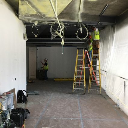 Images of MU Ballston Center and gallery under construction