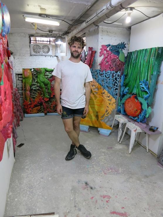 Kyle Vu Dunn in his studio